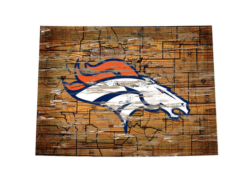 Broncos Room Decor - State Sign