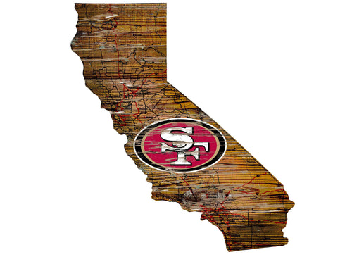 49ers Room Decor - State Sign