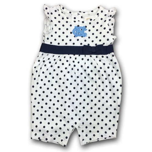 UNC Pretty Polka Dot Romper