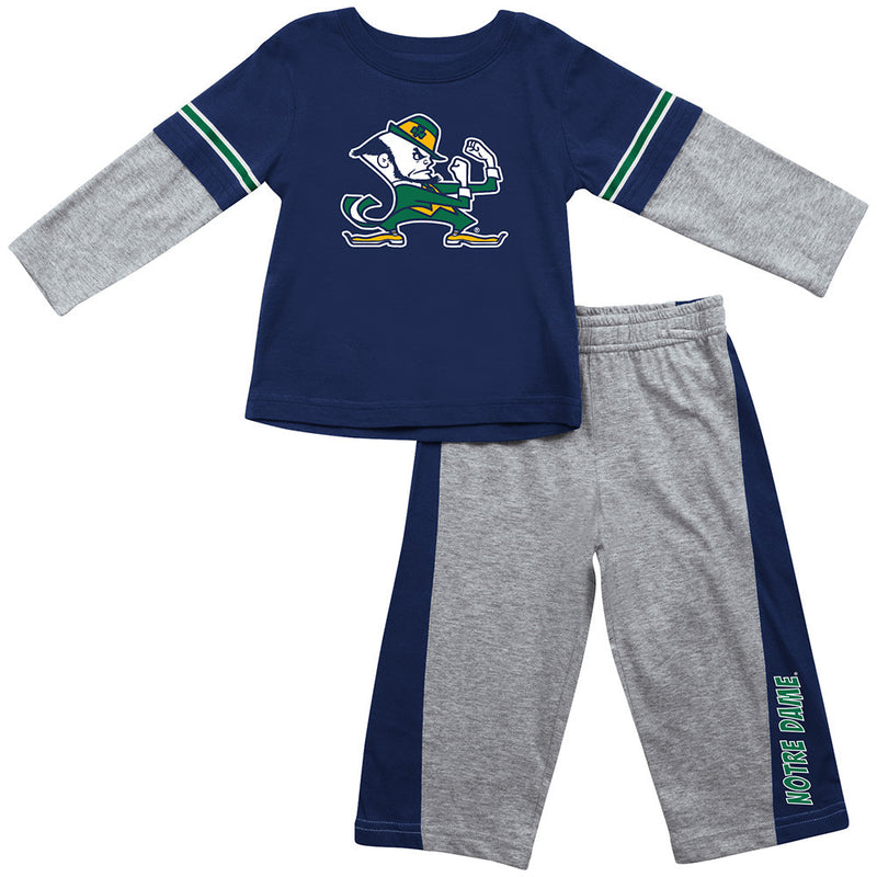 Notre Dame Infant Long Sleeve Tee and Pants
