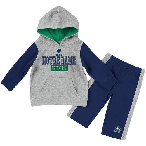 Notre Dame Little Fan Hoodie Set