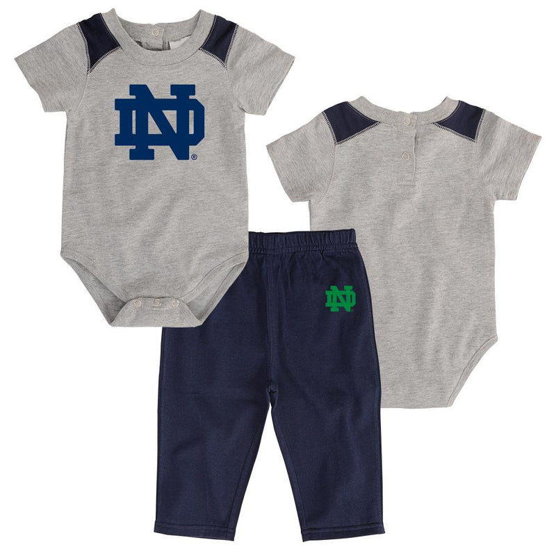 Notre Dame Short Sleeved Onesie & Pants Outfit