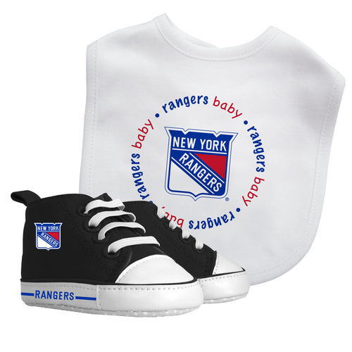 NY Rangers Baby Bib with Pre-Walking Shoes