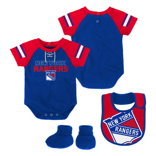 Rangers Baby Creeper, Bib and Booties Set