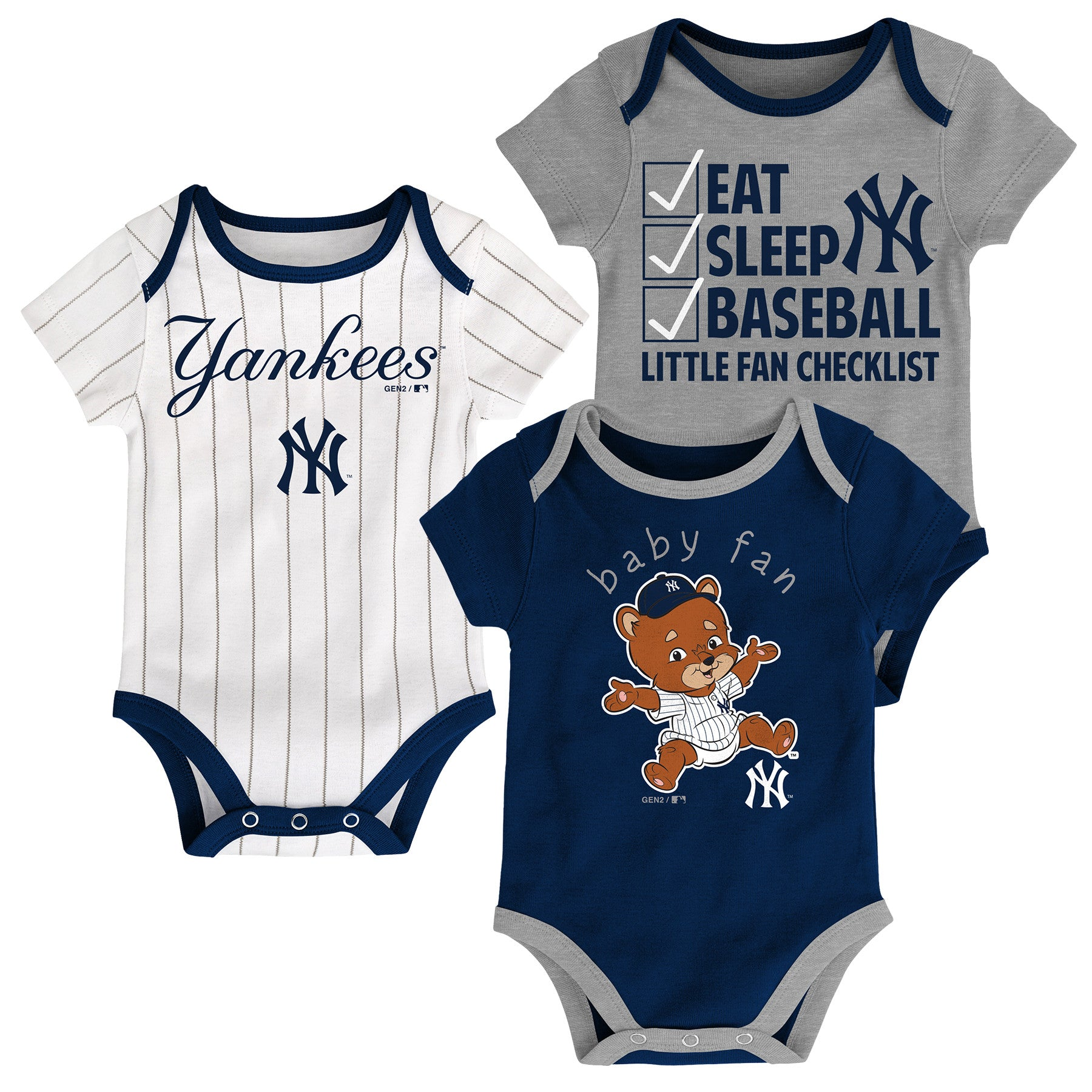 Yankees Baby Fan Mascot Creeper Set – babyfans 72bec2a7c