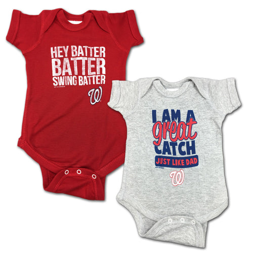 "Nationals ""Hey Batter"" Bodysuit 2 Pack"