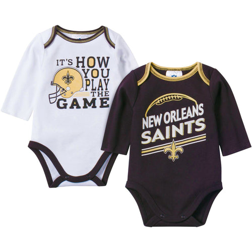 Baby Saints Fan Long Sleeve Onesie 2 Pack