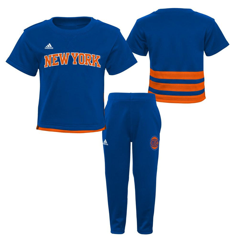 New York Knicks Infant/Toddler Short Sleeve Shirt and Pants Outfit