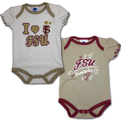 I Love FSU Newborn Girls' Creepers