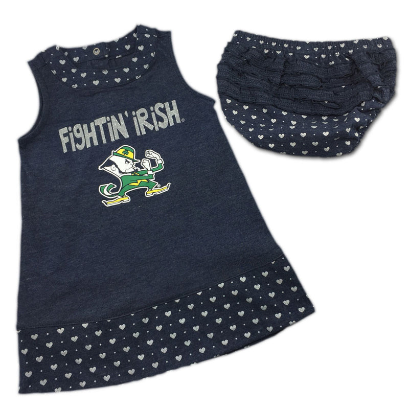 Notre Dame Spirited Heart Dress with Bloomers
