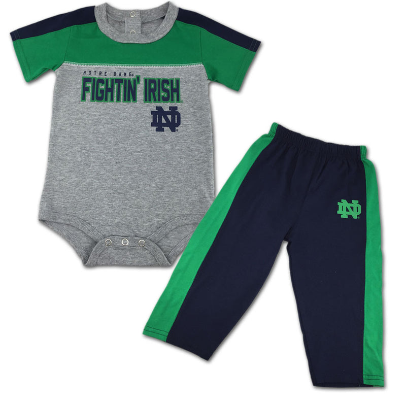 Fighting Irish Fan Playtime Creeper & Pants Outfit