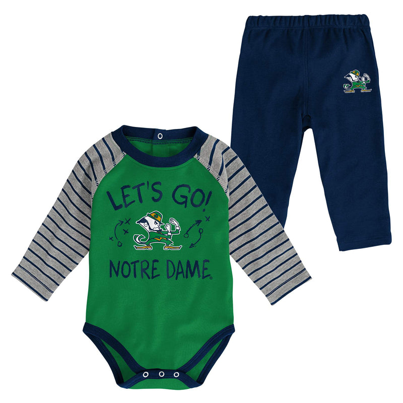 Notre Dame Long Sleeve Bodysuit and Pants