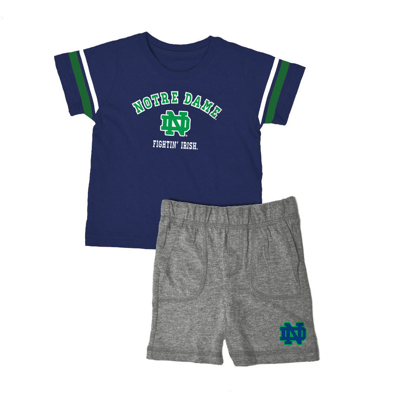 Notre Dame Knit Tee Shirt and Shorts