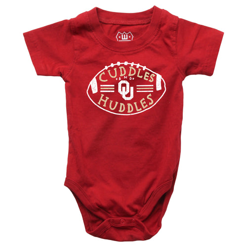 Cuddles and Sooners Huddles Baby Bodysuits