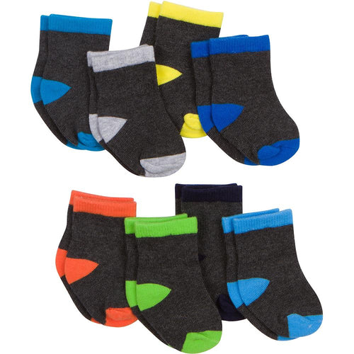 8-Pack Boys Stay-On Technology Wiggle-Proof Socks