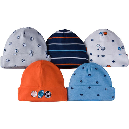 5-Pack Boys Sports Caps