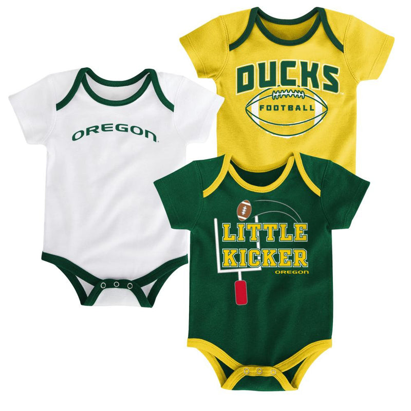 Oregon Little Kicker Onesie 3-Pack