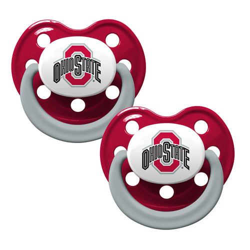 Ohio State Team Colors Two Pack Pacifier Set