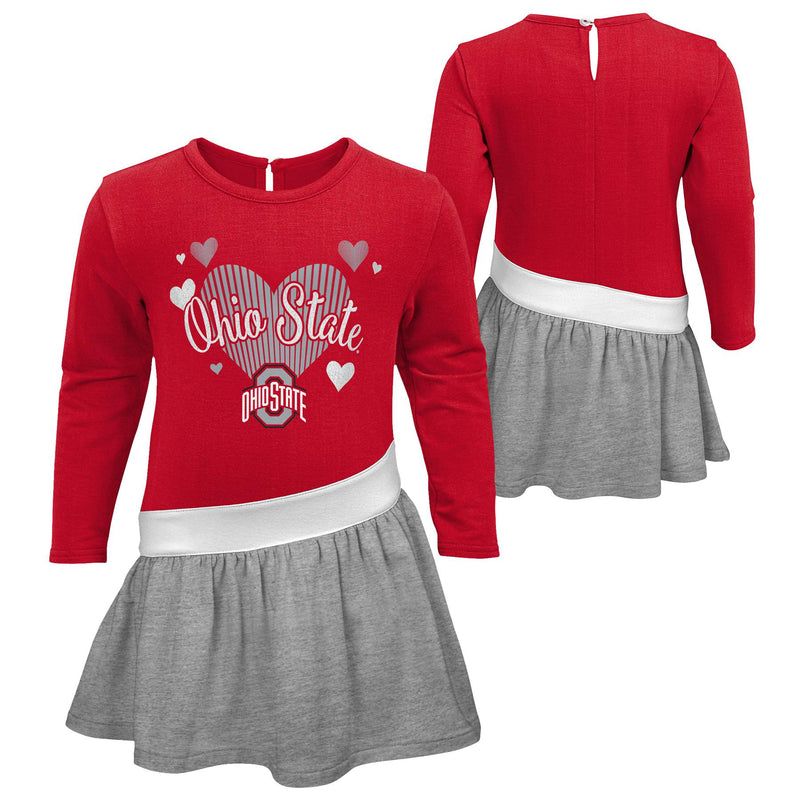 Ohio State Girls Heart Jersey Dress