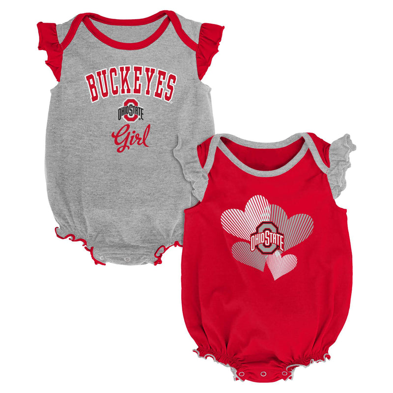 Ohio State Ruffled Bodysuit Set
