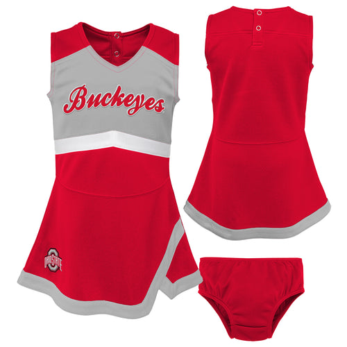 Ohio State Buckeyes Infant Cheerleader Dress
