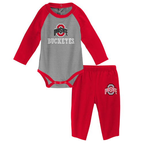 Buckeyes Long Sleeve Bodysuit and Pants Outfit