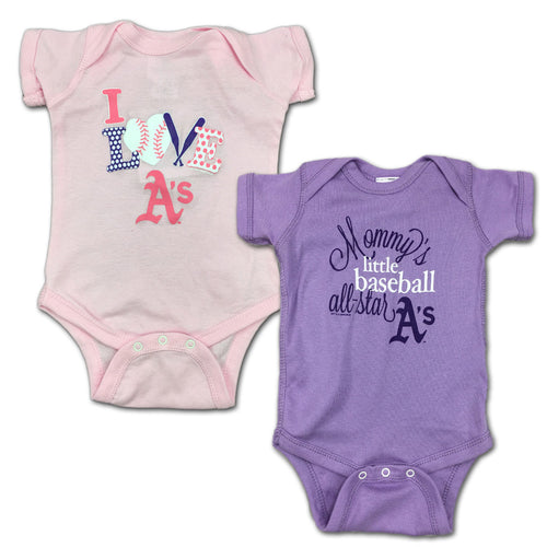 Athletics Mommy's Little Baseball Allstar 2-Pack
