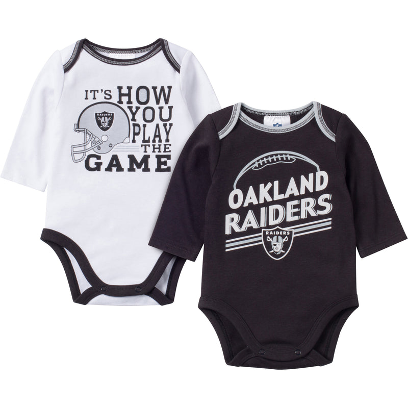 Baby Raiders Fan Long Sleeve Onesie 2 Pack