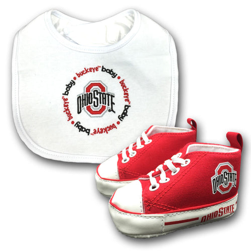 Ohio State Baby Bib with Pre-Walking Shoes