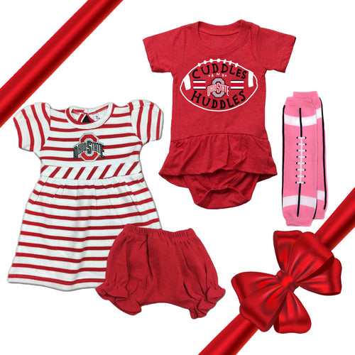 Ohio State Baby Girl Gift Set