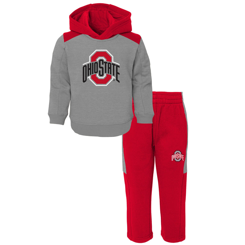 Buckeyes Infant Hooded Fleece Lined Set