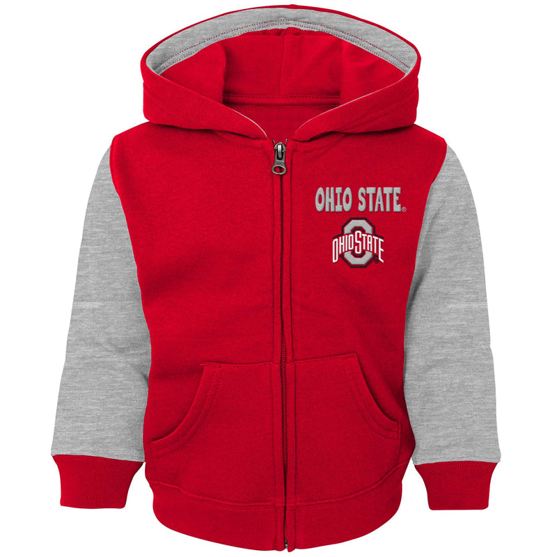 Ohio State Infant and Toddler Zip Up Sweatshirt