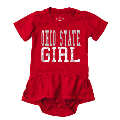 Ohio State Girl Skirted Bodysuit