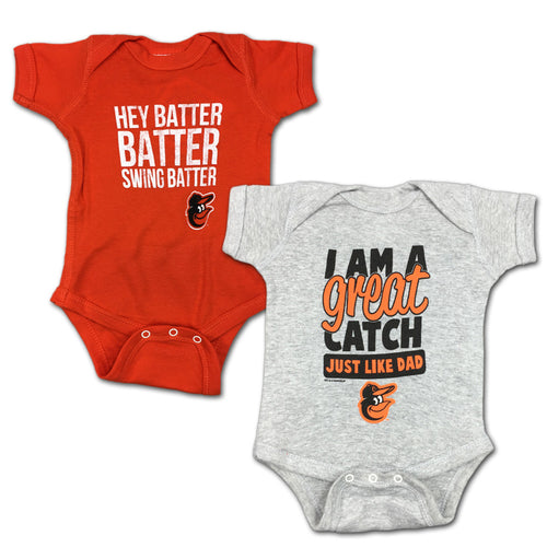 "Orioles ""Hey Batter"" Bodysuit 2 Pack"
