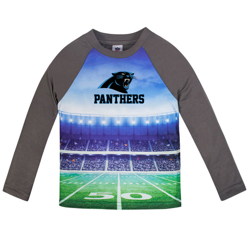Panthers Long Sleeve Football Performance Tee