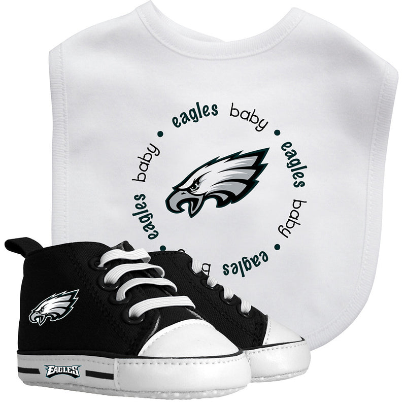 Eagles Baby Bib with Pre-Walking Shoes