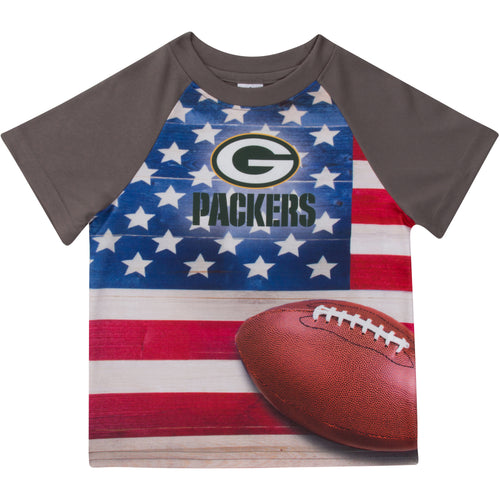 Packers Short Sleeve Flag Tee