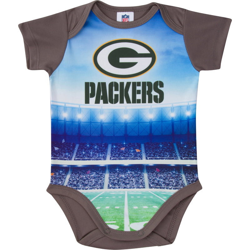 Packers Short Sleeve Bodysuit
