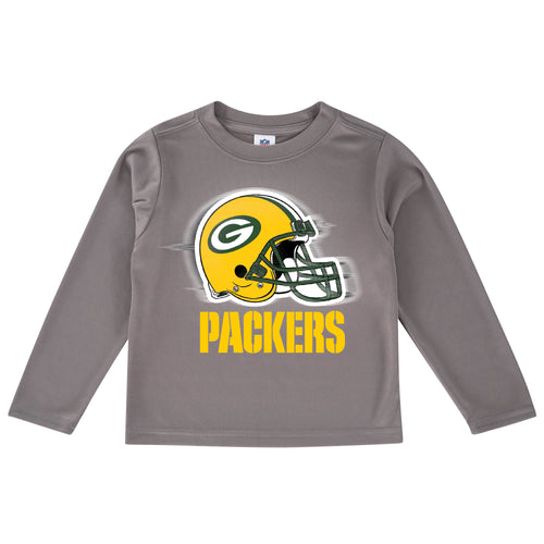 Packers Cool Grey Toddler Long Sleeve Logo Tee