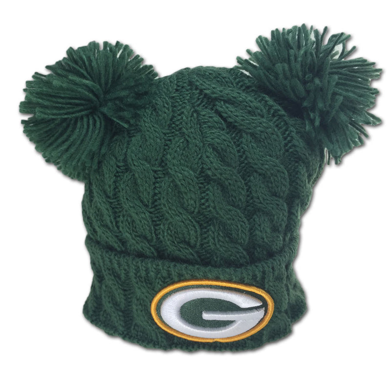 Packers Double Pom Pom Hat