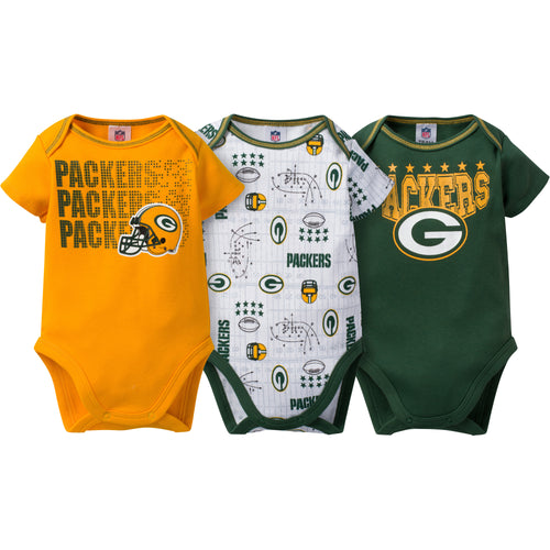 Packers Baby 3 Pack Short Sleeve Onesies