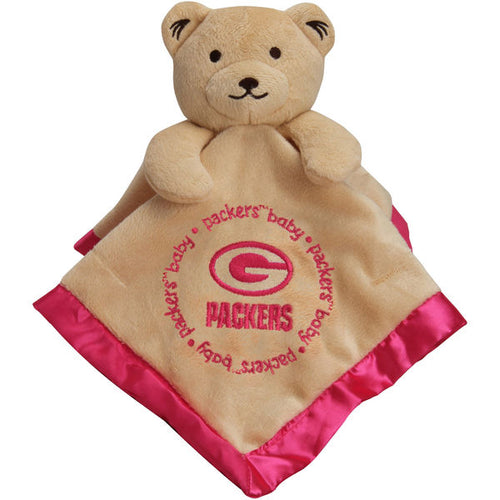 Green Bay Packers Pink Baby Security Blanket