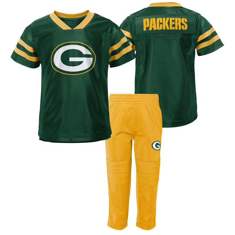 Packers Jersey Style Shirt and Pants Set