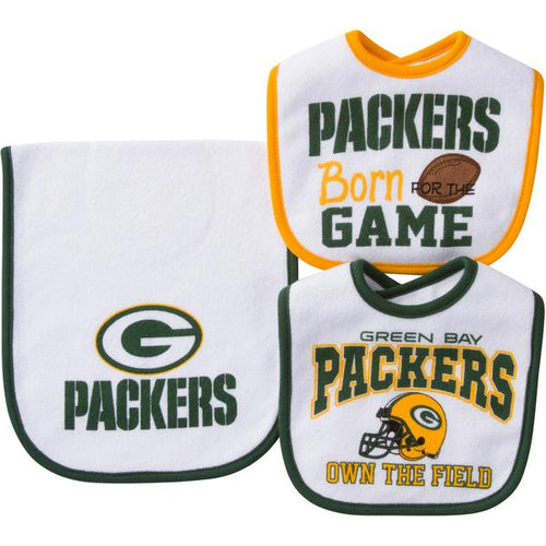 Packers Baby 2 Bib and 1 Burpcloth Set