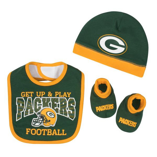 Packers Baby Boy Accessories, 3pc Set