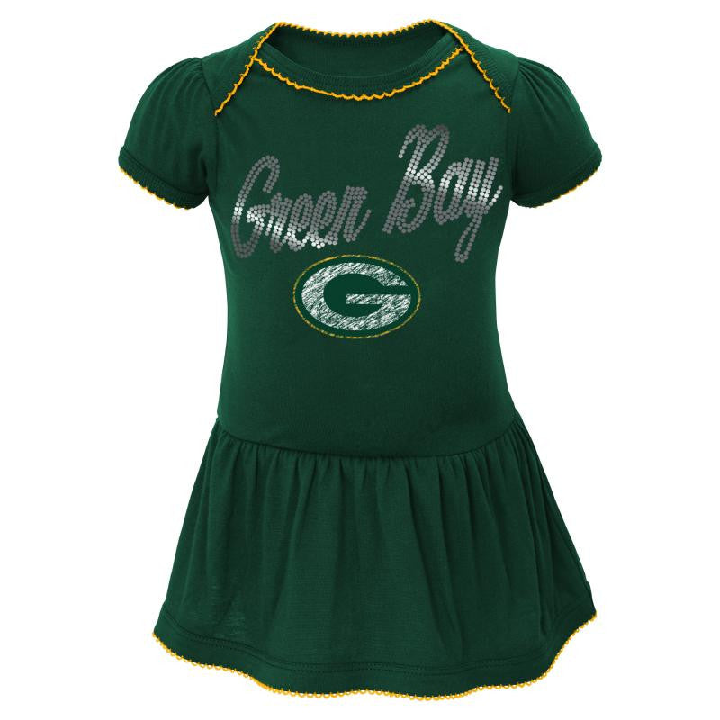 Packers Baby Dazzle Bodysuit Dress