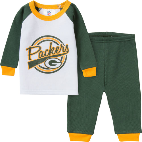 Packers 2 Pc Thermal PJs