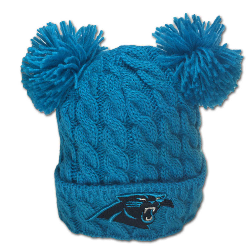 Panthers Double Pom Pom Hat – babyfans 1fcf76f4b