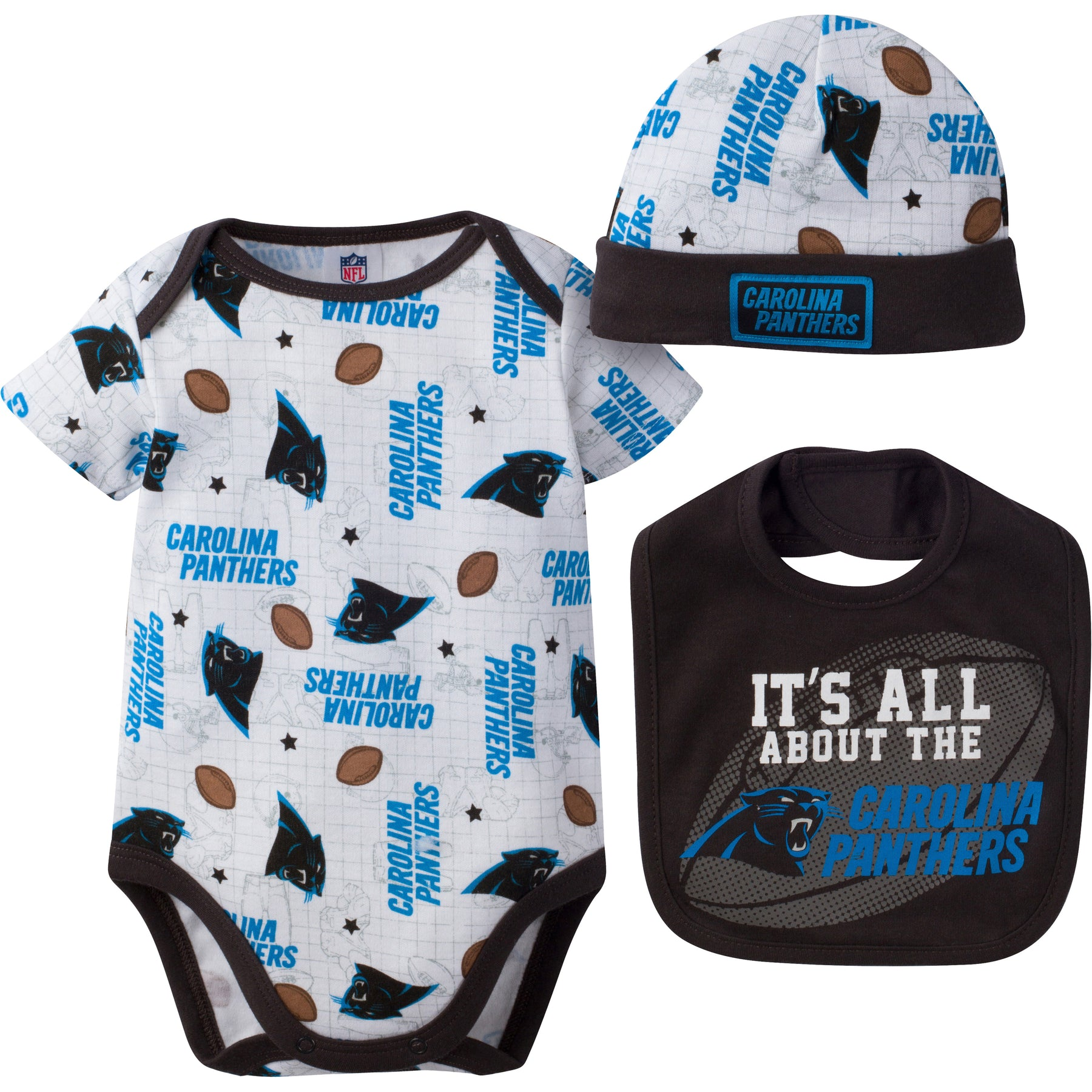 de14971dc Panthers Baby Logo Onesie, Cap and Bib – babyfans