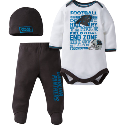 Panthers Baby 3 Piece Outfit